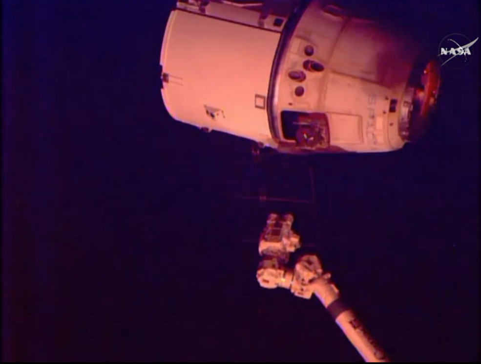 SpaceX Dragon cargo spacecraft was released from the International Space Station's robotic arm at 7:04 a.m. EDT