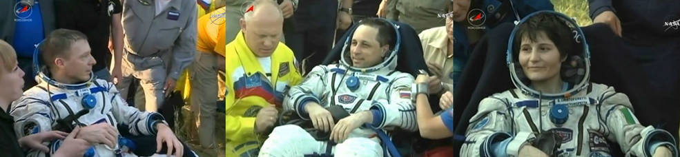 ISS Expedition 43 returns to Earth
