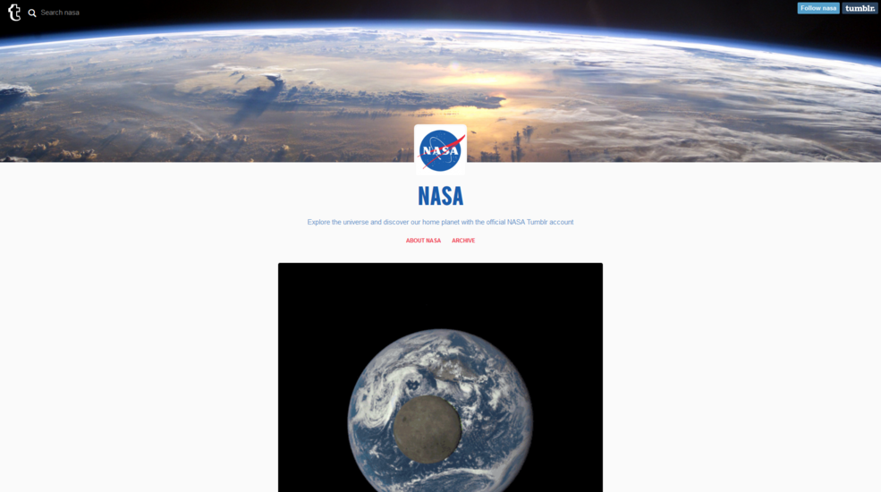 NASA now is on Tumblr