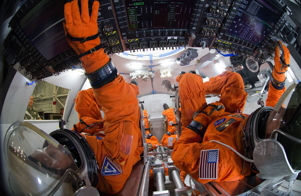 Inside of Orion spacecraft