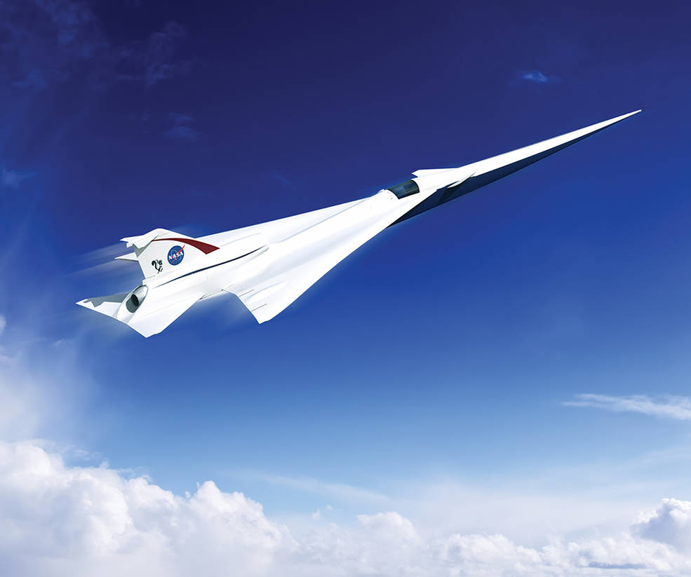 Artist concept of supersonic aircraft