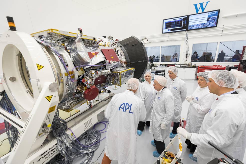 Parker Solar Probe in APL clean room