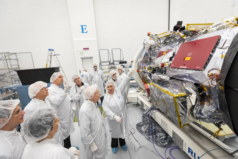 Parker Solar Probe in APL clean room