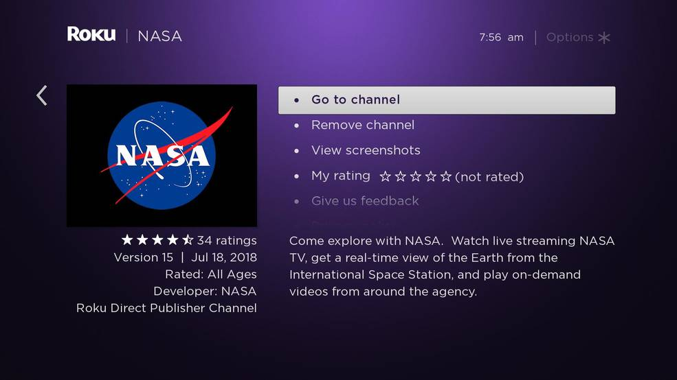 NASA now has a channel for Roku digital media streaming devices