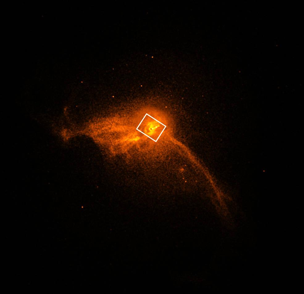 Imagen de cerca del centro de la galaxia
