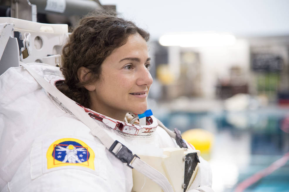 NASA's Jessica Meir during astronaut candidate extravehicular activity skills training.