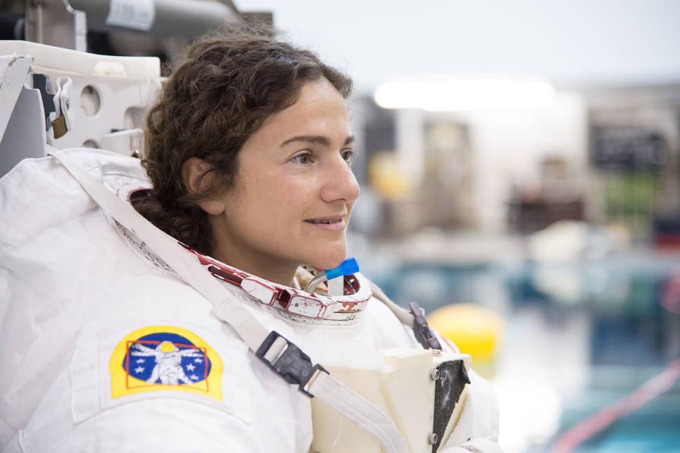NASAs Jessica Meir during astronaut candidate extravehicular activity skills training.