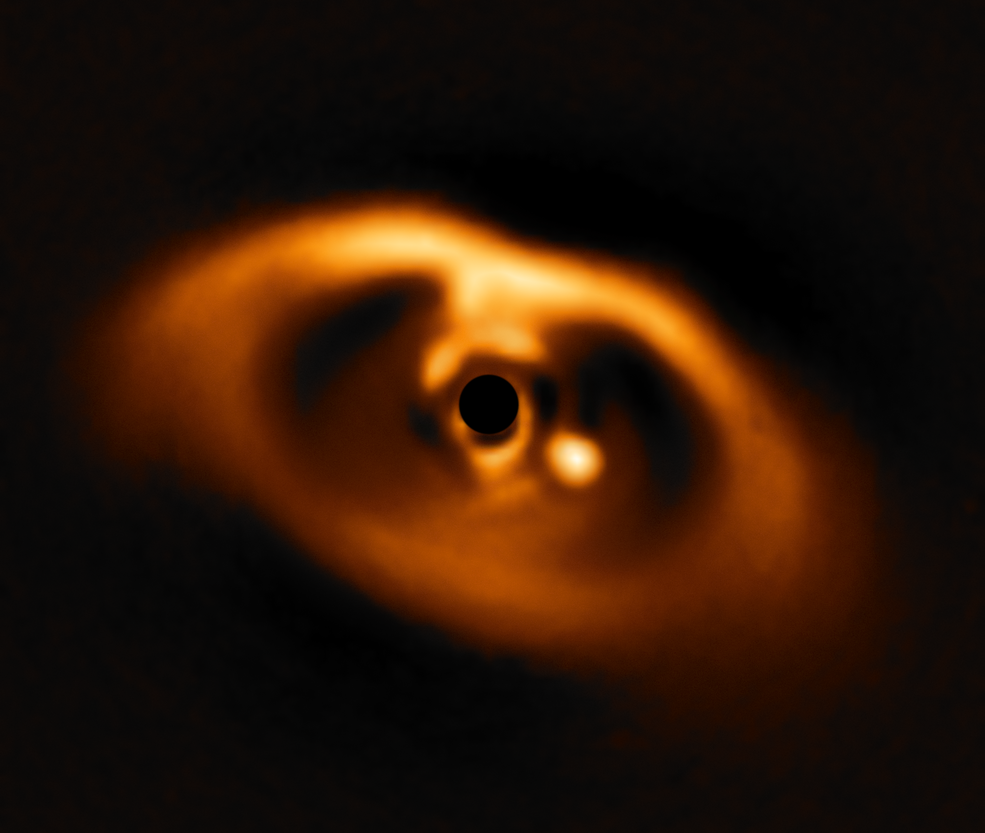 The European Southern Observatory's Very Large Telescope caught the first clear image of a forming planet, PDS 70b, around a dwarf star in 2018.