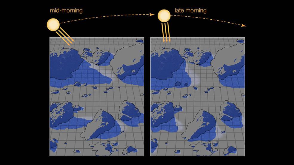 Un estudio de la NASA destaca la importancia de las sombras superficiales de la Luna en el agua