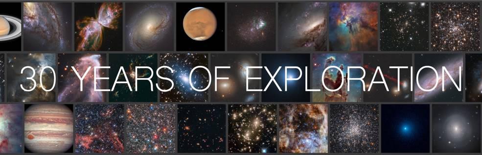 Banner del 30 aniversario del Hubble