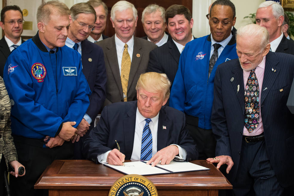 National Space Council Executive Order signing