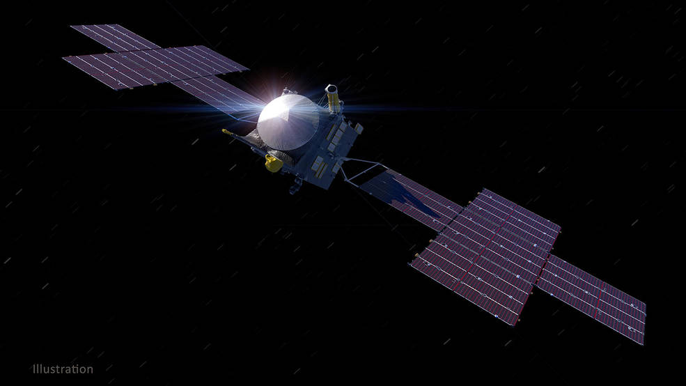Illustration depicts NASA's Psyche spacecraft