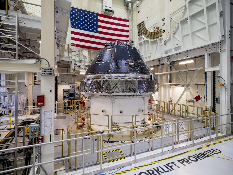 NASA completed building and outfitting the Orion crew capsule for the first Artemis lunar mission