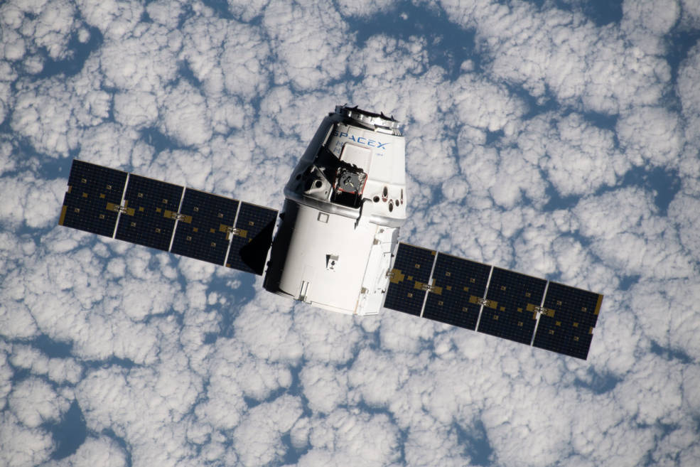 SpaceX Dragon spacecraft approaches the International Space Station July 27, 2019