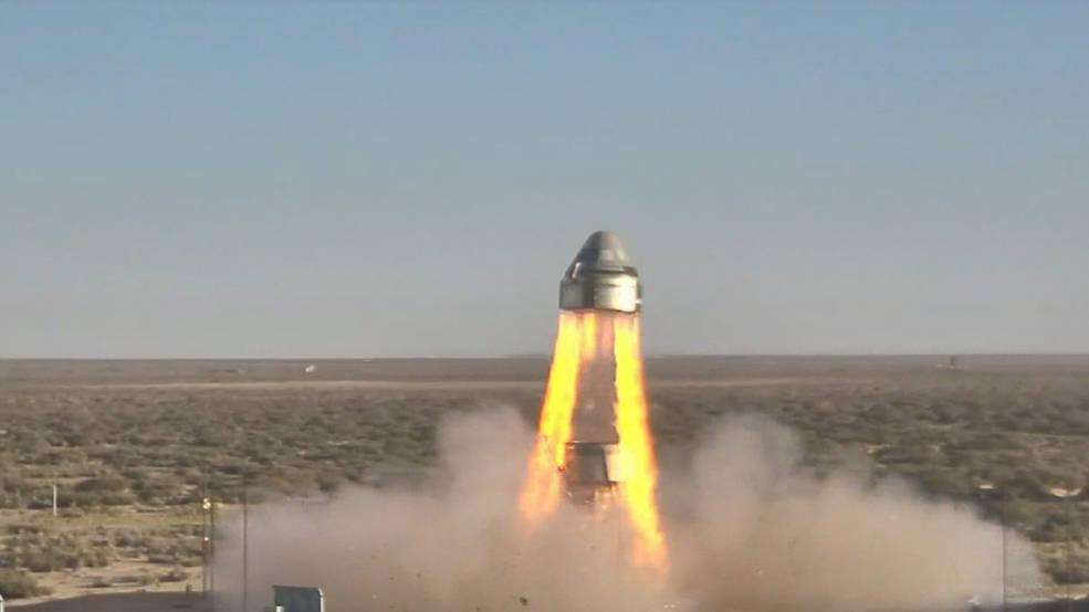 Boeing's CST-100 Starliner's launch abort test.