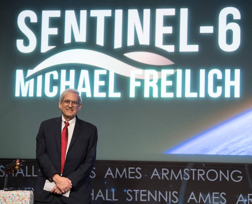 Jan. 28, 2020, at NASA Headquarters in Washington, NASA and its European partners renamed the Sentinel-6A/Jason-CS satellite