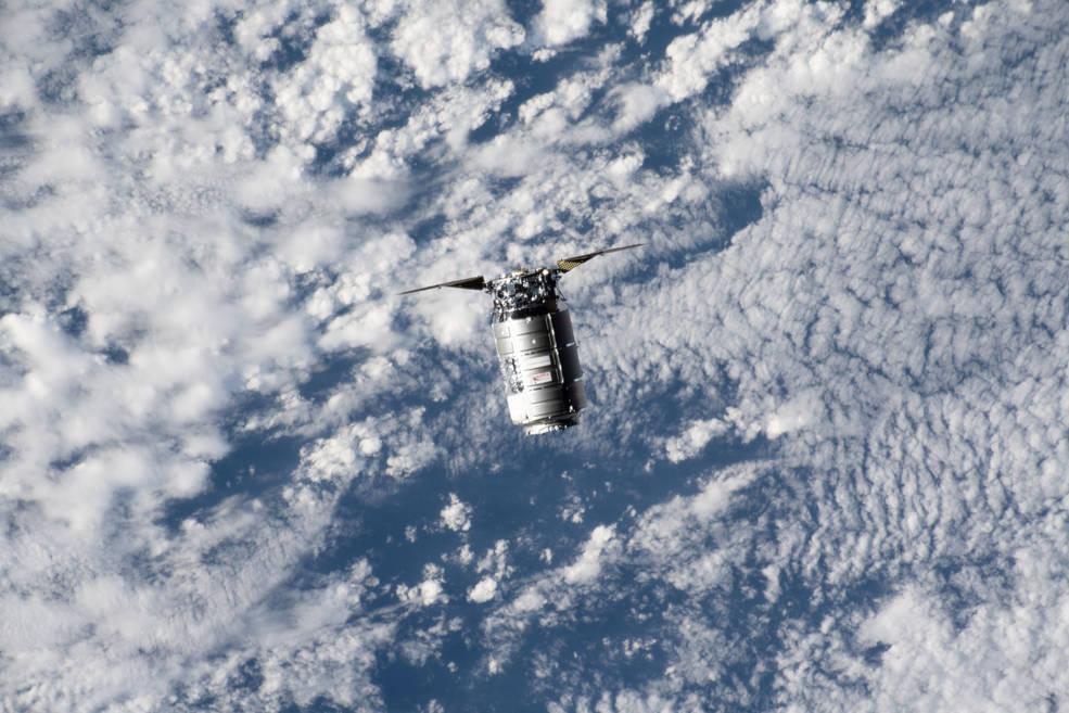 Northrop Grumman's Cygnus cargo craft approaches the International Space Station