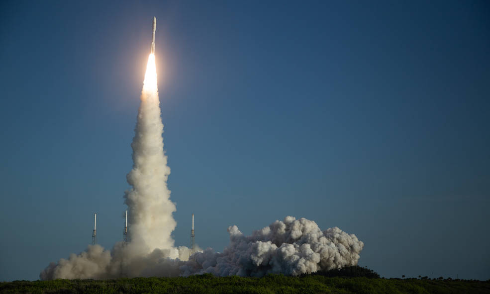 A United Launch Alliance Atlas V rocket with NASA's Mars 2020 Perseverance rover onboard launches from Space Launch Complex 41