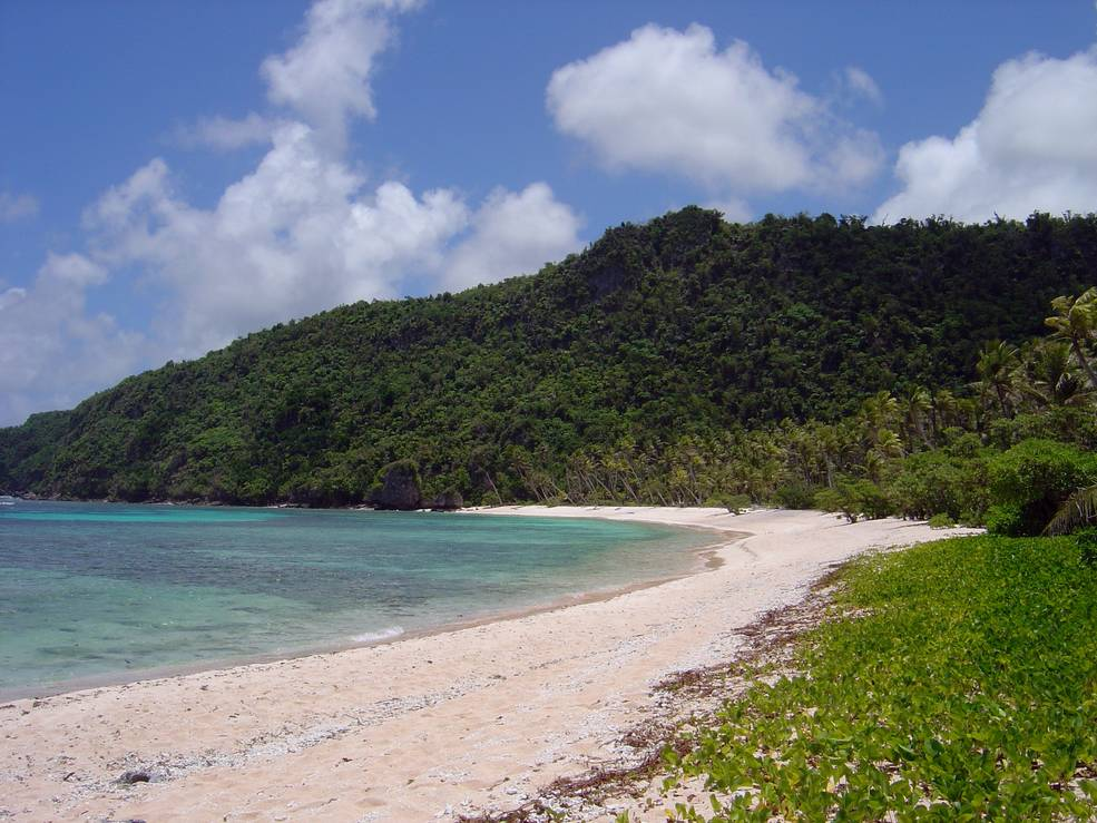 Many sandy beaches, like this one in Mariana Islands,