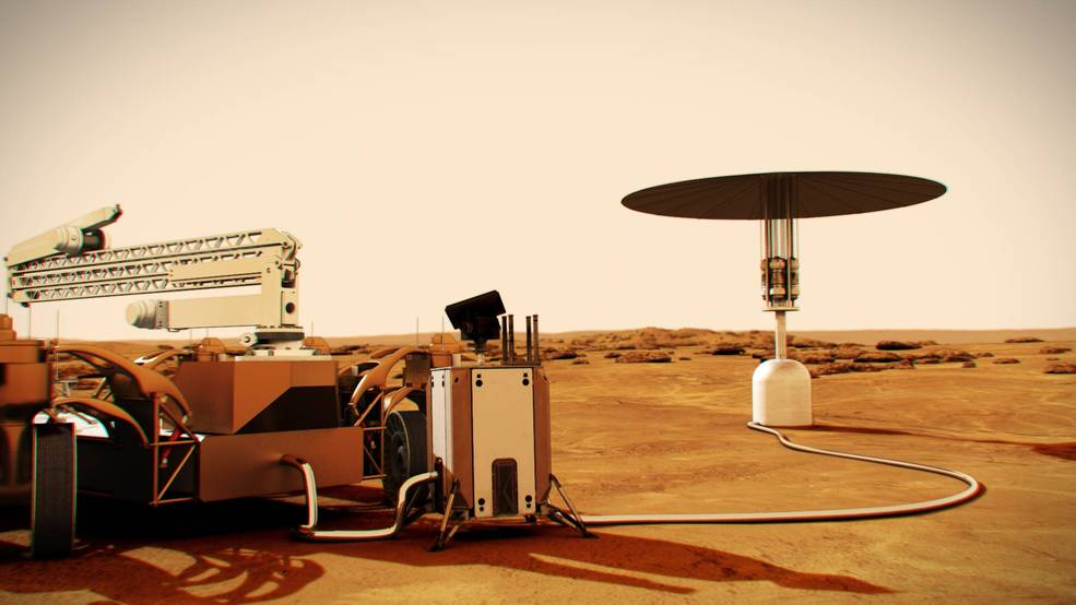 Power source on Mars surface