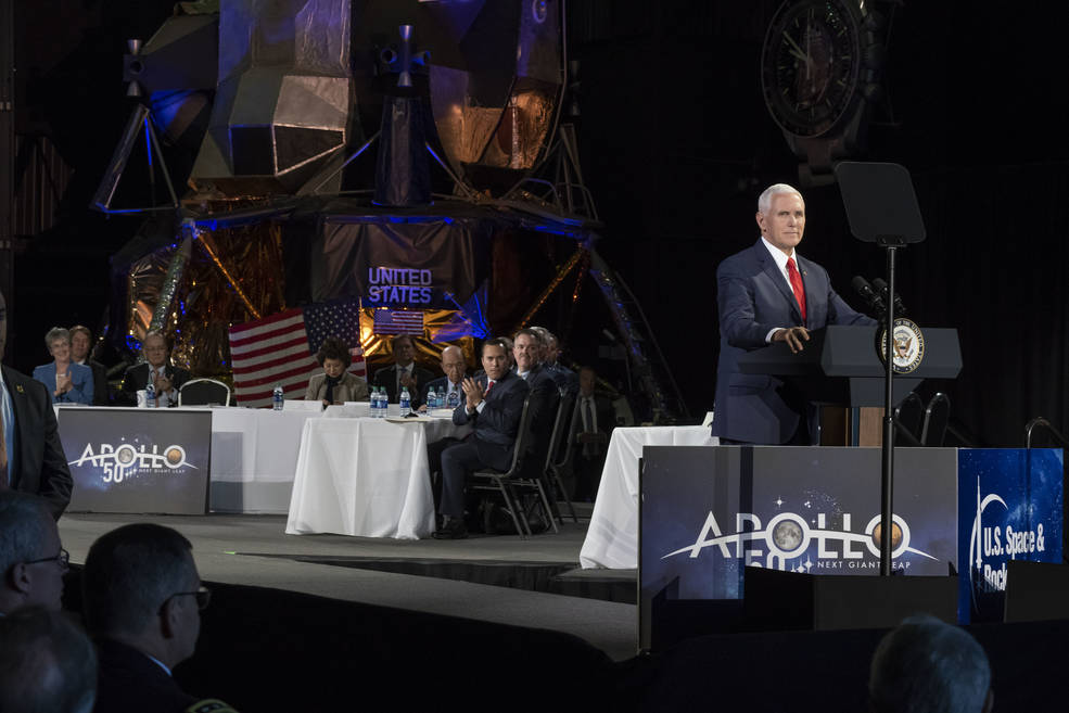 VP Mike Pence at 5th National Space Council