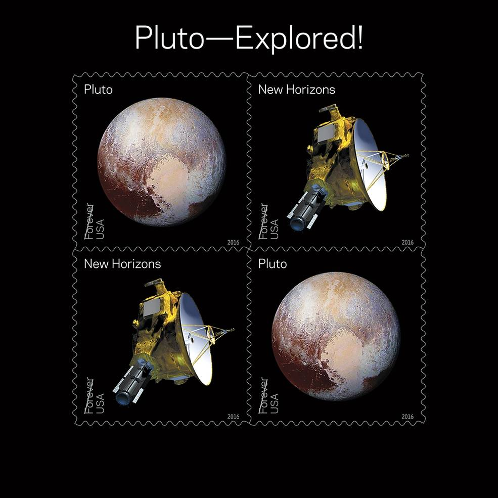 Pluto Explored! Postal Service Honors NASA's New Horizons with 2016 Stamps