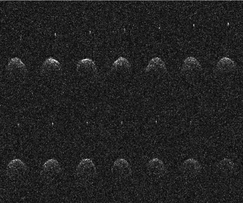 Catorce imágenes de radar de Arecibo del asteroide cercano a la Tierra (65803) Dídimo y su pequeña luna