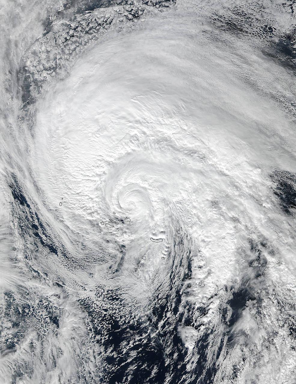 Visible look at Hurricane Alex