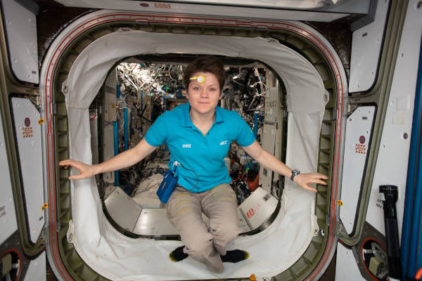 astronaut Anne McClain inside the space station