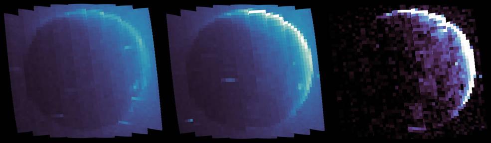 Ultraviolet proton Aurora på Mars's dagside foto fra MAVEN sonden