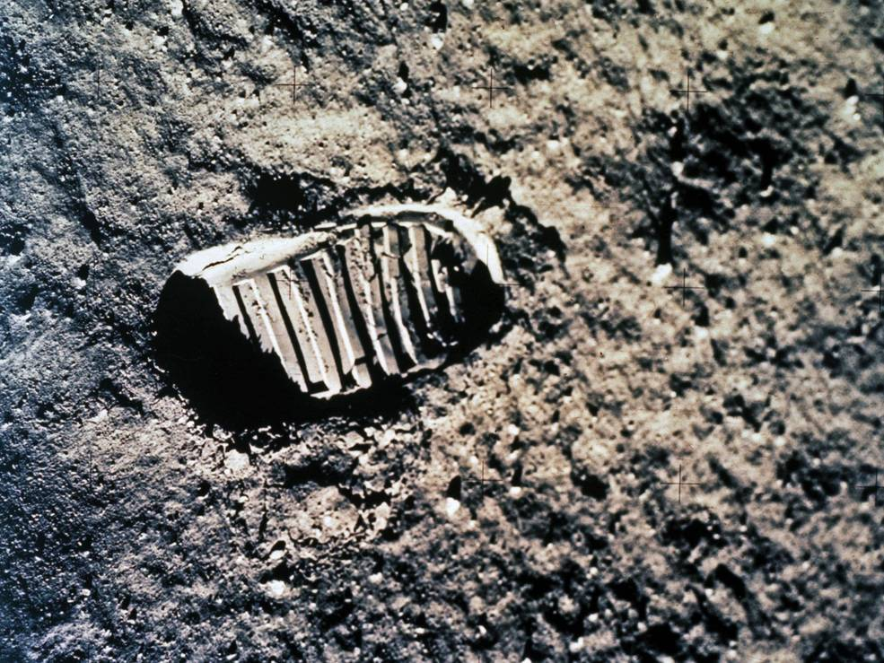 Bootprint on the moon from the Apollo 11 mission