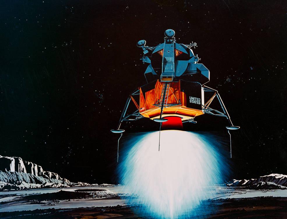 Artist's concept of Apollo 11 Lunar Module