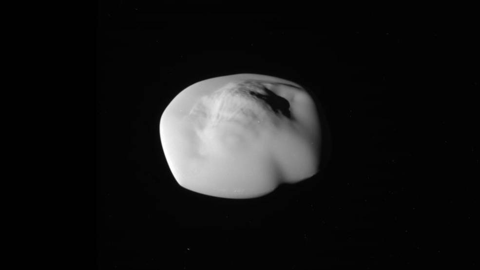 Unprocessed image of Saturn's moon Atlas