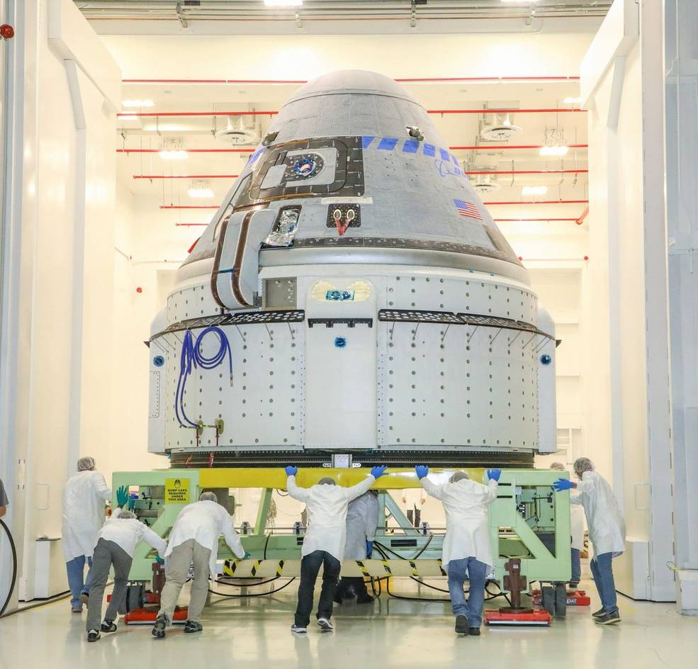 The CST-100 Starliner spacecraft to be flown on Boeing's Orbital Flight Test (OFT)