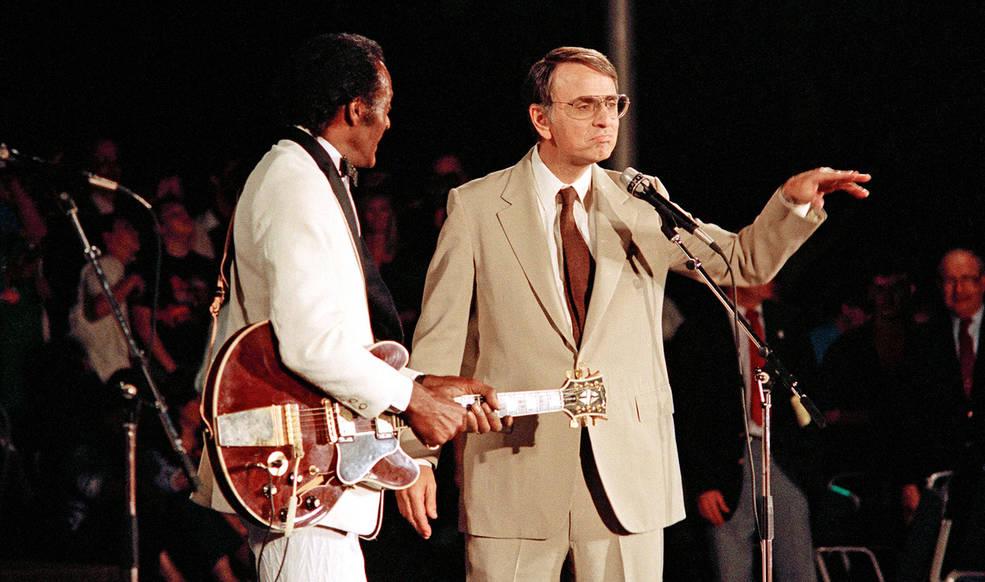 Chuck Berry and Carl Sagan