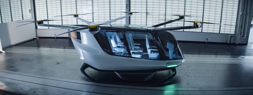 Taxi aéreo del vehículo de despegue y aterrizaje vertical (eVTOL) de Alaka'i Technologies llamado Skai
