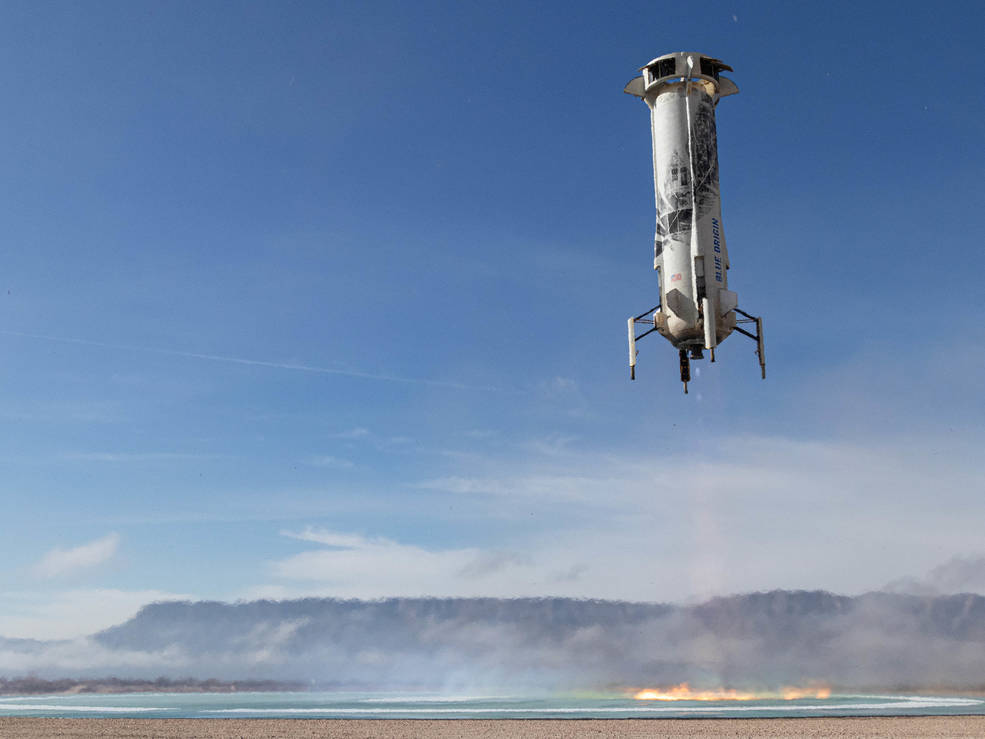 Landing of New Shepard Booster.