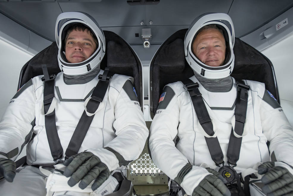 NASA astronauts Behnken and Hurley participated in Commerical Crew Program first flight test.