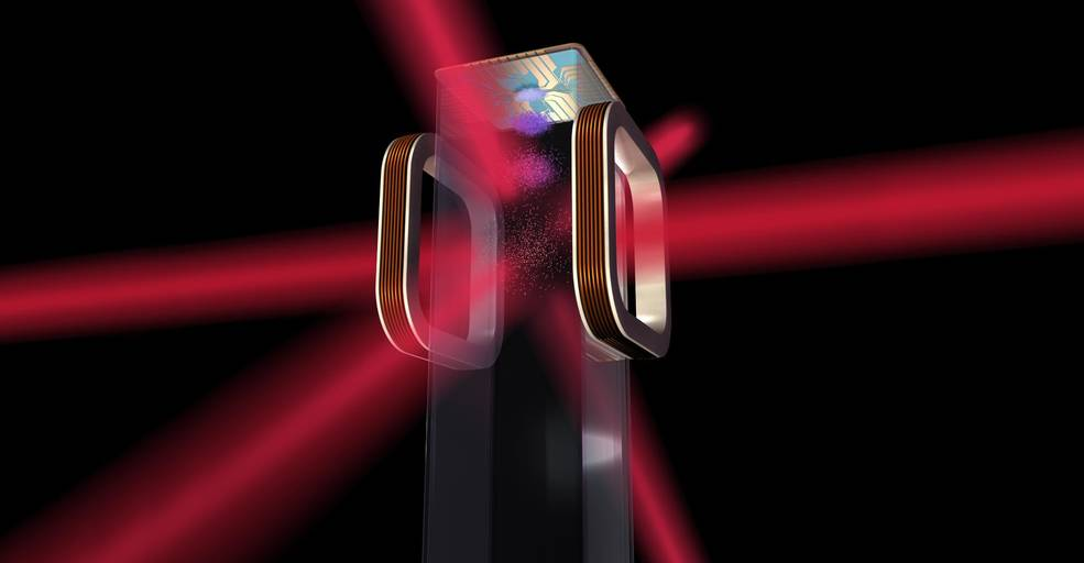 Artist's concept of an atom chip