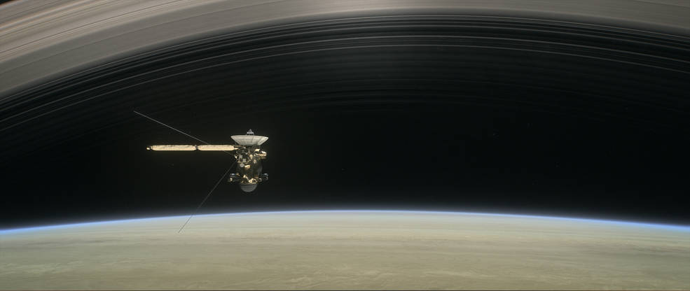 Artist's rendering of Cassini