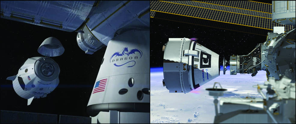 Boeing CST-100 Starliner and SpaceX Crew Dragon
