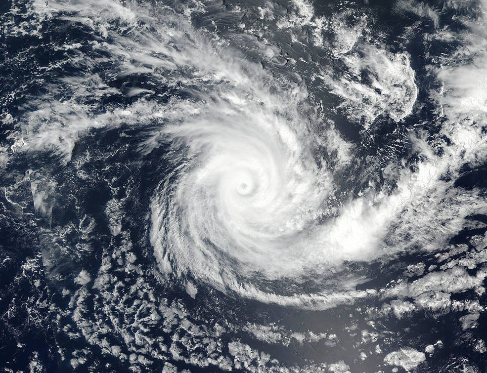 Suomi NPP satellite captured this visible image of Tropical Cyclone Cebile
