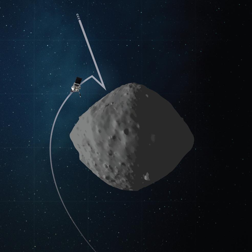 OSIRIS-REx, zkušební přiblížení k planetce Bennu