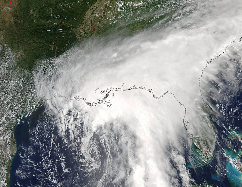 GOES-East image of Cindy