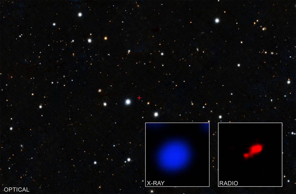 Los datos del Observatorio de rayos X Chandra de la NASA han revelado lo que puede ser el agujero negro cubierto más distante.