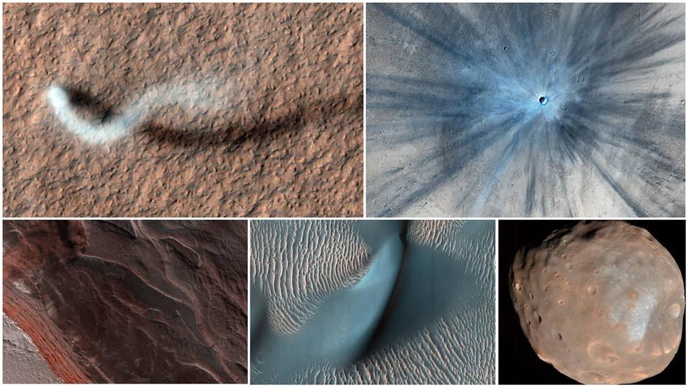 Imágenes de Mars Reconnaissance Orbiter en su 15º aniversario.