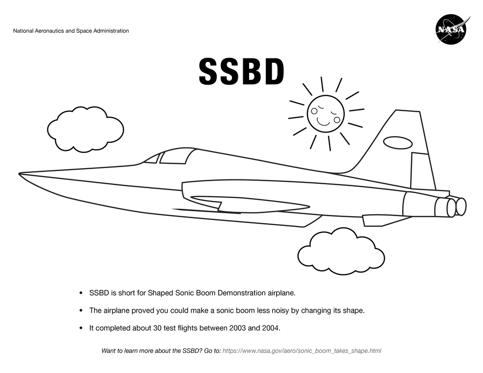- Airplane Coloring Pages For Kids NASA