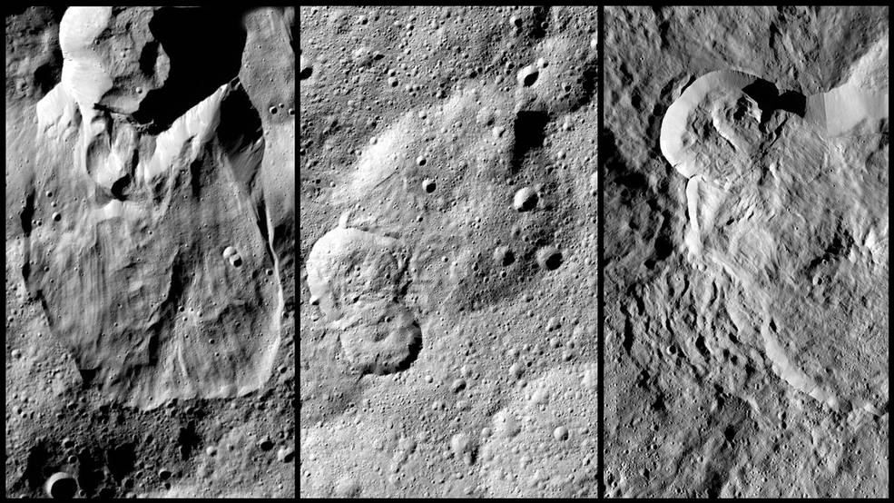 Montage of Ceres images
