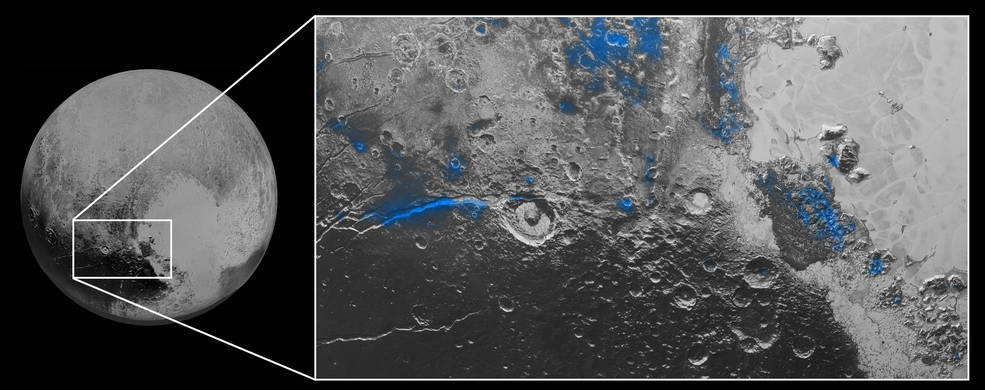 Zoom in area on Pluto