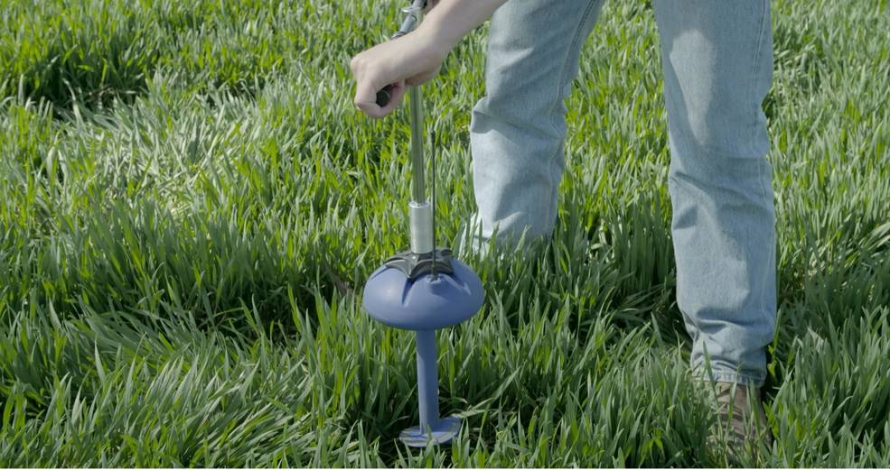 Photo of installation of crop sensor
